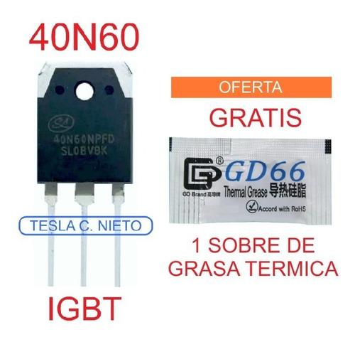 Imagen 1 de 6 de 40n60 Igbt 40n60fdi Para Inversora