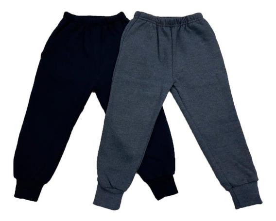 Pantalon Jogging Algodon Con Puño Friza Niños Talles 4 Al 14