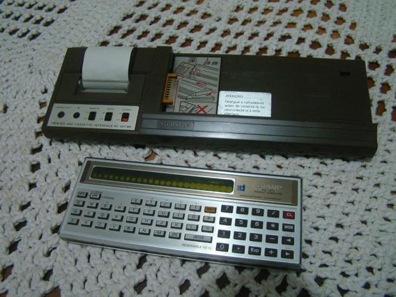 Sharp Pooket Computer Pc1211 Com Interface E Impressora Ler
