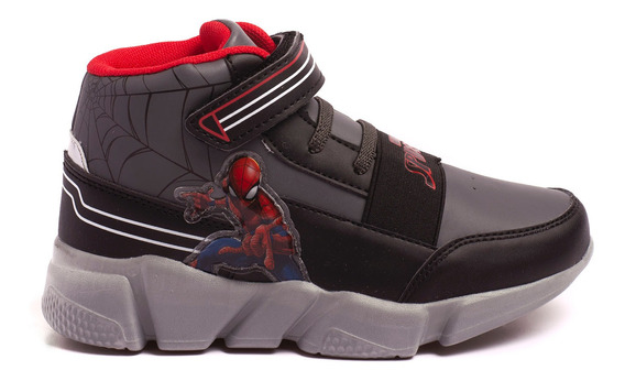 Zapatillas Atomik Marvel Invicible Spiderman-mvl002gri- Open