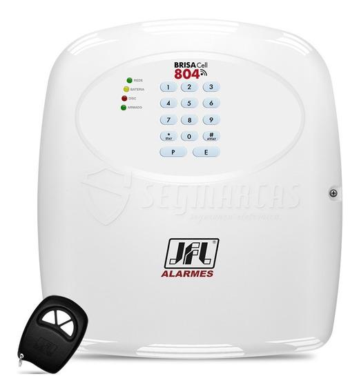 Central De Alarme Com Discadora Gsm Chip Brisa Cell 804 Jfl