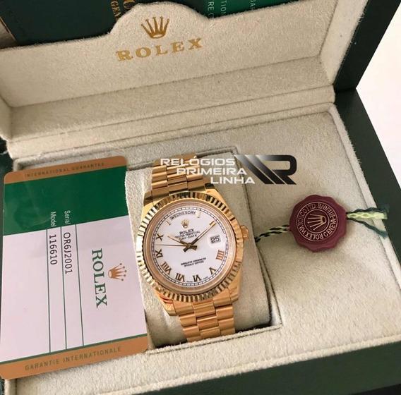 Rolex Presidente Dourado Daydate Com Caixa E Documentos