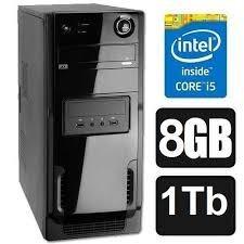 Cpu Computador Novo Core I5 8gb Hd 1.0 Tb+ Wifi-