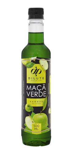 Xarope Para Soda Italiana Maçã Verde Dilute Aquamix 500ml