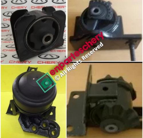 Juego Kit Bases De Motor Y Caja Chery Tiggo Original