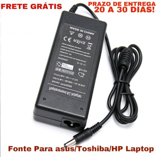 Novo 19 V 4.74a Ac Power Adapter Fonte Para Asus/toshiba/hp