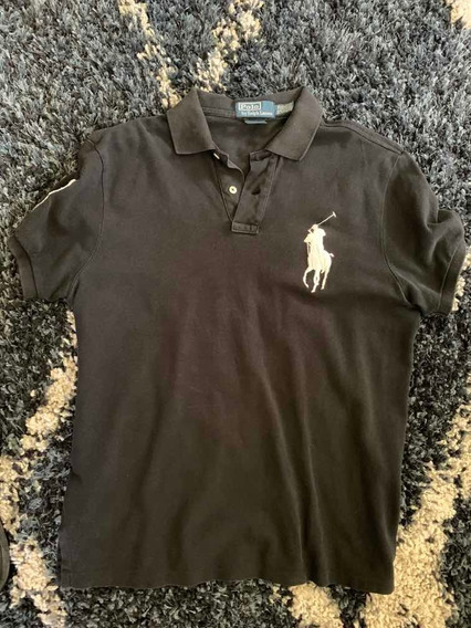 Polo Ralph Laurent Negra Pony Blanco