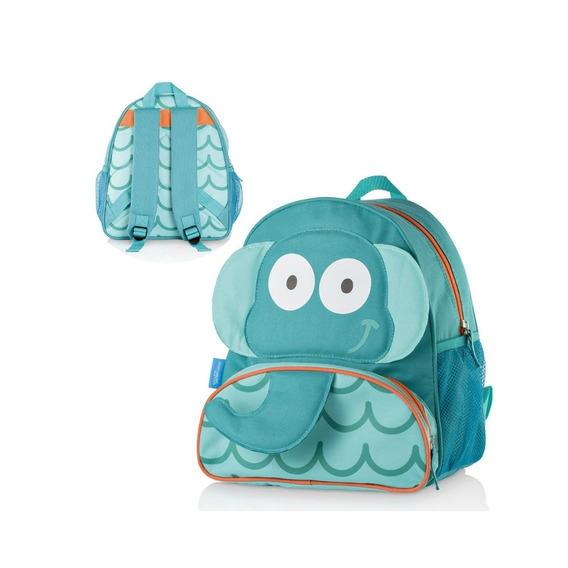 Mochila Escolar Menino Multikids Elefante Bb233 Azul