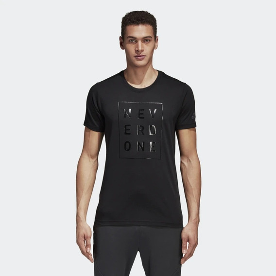 Camiseta Never Done adidas Preto