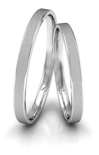 Par De Alianças Namoro Prata Diamantadas 2mm 3 Gramas