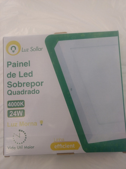 Kit 10 Placas/painel De Led Sobrepor 24w 4000k - Luz Morna