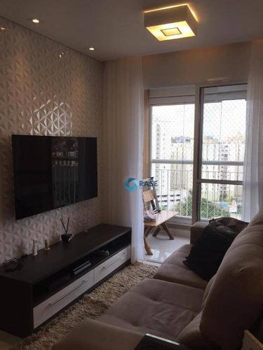 Apartamento Com 2 Dormitórios À Venda, 53 M² Por R$ 325.000,00 - Campo Limpo - São Paulo/sp - Ap1348