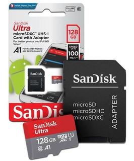 Memória Micro Sd 128gb 100 Mb/s Sdxc Uhs-i Classe 10 A1