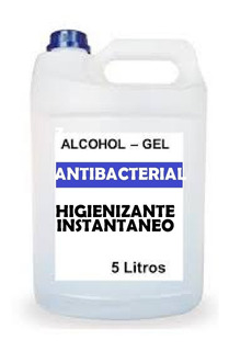 Alcohol En Gel Desinfectante Antibacterial 5 Litros + Envio