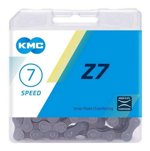 Imagem 1 de 2 de Corrente 7v Kmc Z7 116 Elos 14v 21v Speed Mtb Megarange 3x7v