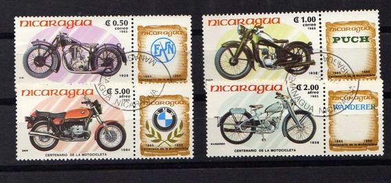Numismza : Nicaragua 1985 Motos 4 Valores Mint ( A 246) Oferta