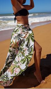 Saída De Praia, Saia Pareô, Duda Floral, Moda Praia,