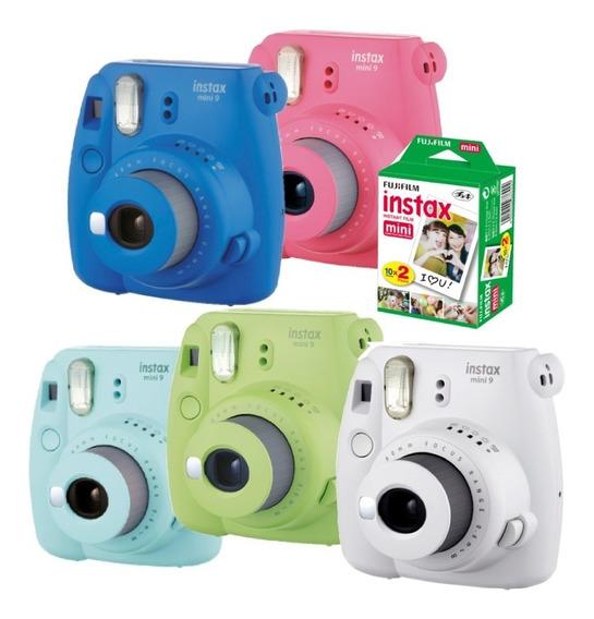 Câmera Instax Mini 9 Instantanea Com Filme - Diversas Cores