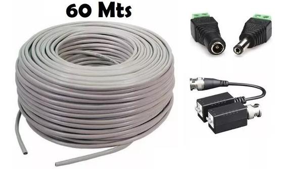 Cable Utp Con Baluns Y Conectores 60 Metros Armado