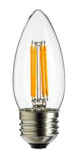 Lámpara Vela Filamento Led E27 4w Velita Cálida - Tbcin