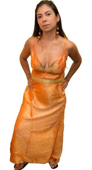 Vestido Indiano Longo Lastex Promoção Moda Lançamento 2019