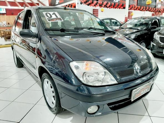Renault Scénic Rt 1.6 16v 4p 2001 Cinza Impecável Completa