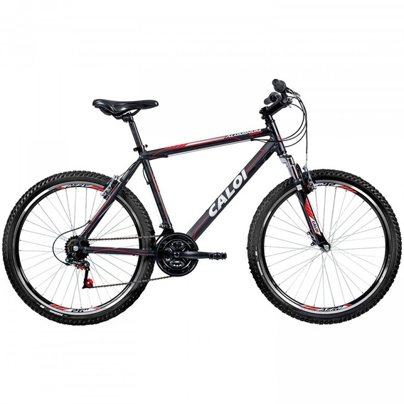 Bicicleta Mtb Caloi Aluminum Sport Aro 26 - 21 Vel - Preto