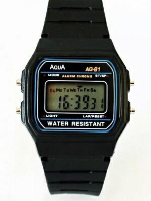 Relógio Aqua Aq-81 Similar Casio Kit Com 5 Un Promoção