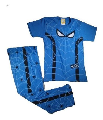 Pijamas Spiderman De Mono Cisco Kids