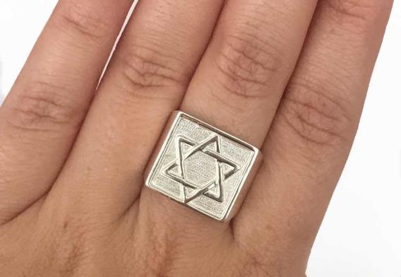 Anel Estrela De Davi Prata 925