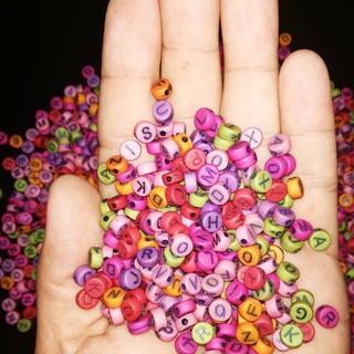 100 Letras De Colores Materiales De Bisuteria