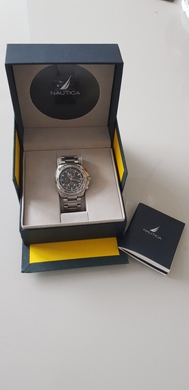 Relógio Náutica Cronograph Tachymeter 100mts