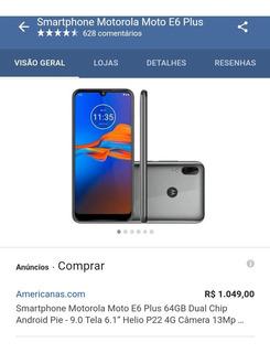 Celular Motorola E6 Plus Com Tudo E 2 Capa