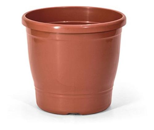 Imagem 1 de 2 de Kit Vaso Primavera Cerâmica 1,9l + Prato Redondo 01