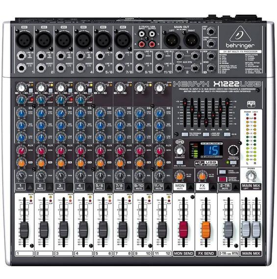 Mesa De Som Behringer X1222usb X 1222 Usb Mixer 12 Canais