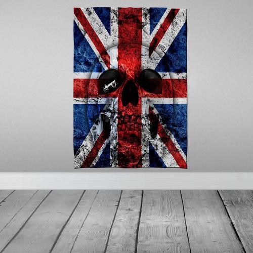 Stompy Tecido Decorativo Decoração England Inglaterra Skul