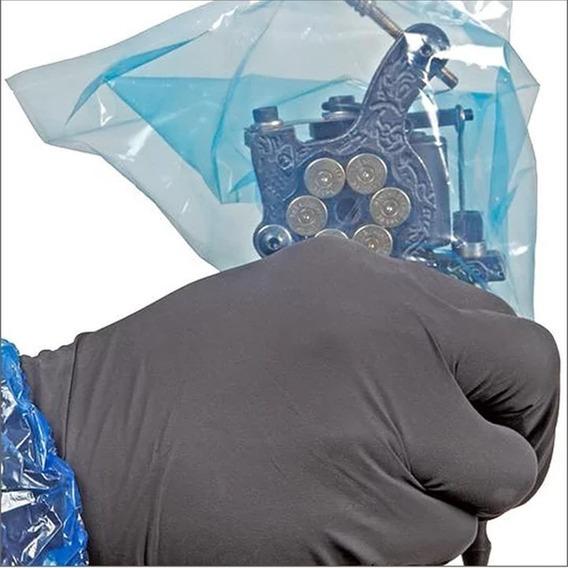 Protetor Máquina Tatuagem 100 Unidades 3 Cores Tattoo