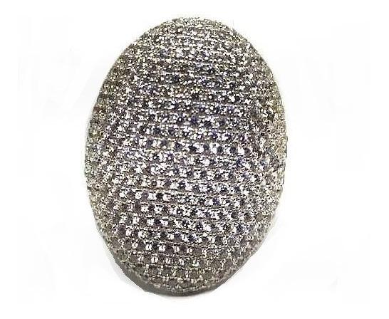 Hx5-anel Pave Prata 925 Zirconias Rodio Kessel