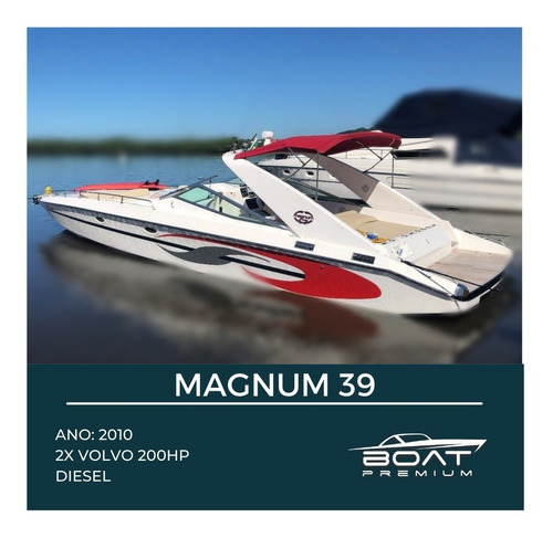 Magnum 39, 2010, 2x Volvo 200hp - Focker - Triton
