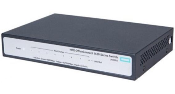 Switch Hp 1420 8 Portas 10/100/1000 Jh329a (3com) Não Gerenc