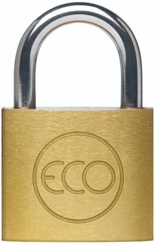 Candado Eco 40mm Acero Bronceado + 2 Llaves