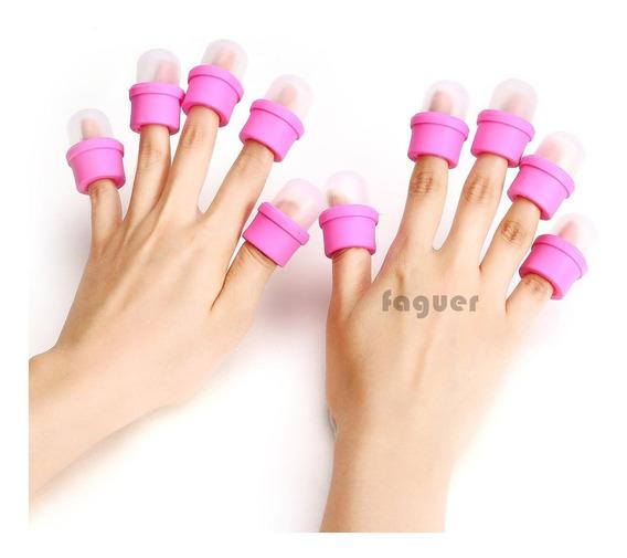 10 Capuchon Capsula Soaking Nails Remover Uñas Esculpidas