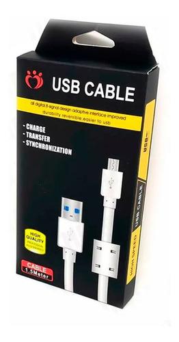 Cable Microusb 1.5m Carga Rapida 3.0 3a Micro Usb A Usb