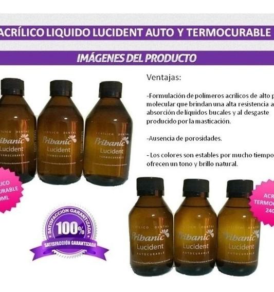 Acrilico Liquido Termocurable Lucident 240ml