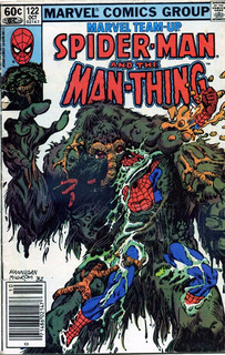 Spiderman And The Man-thing Marvel #122 1982 Comic Ingles