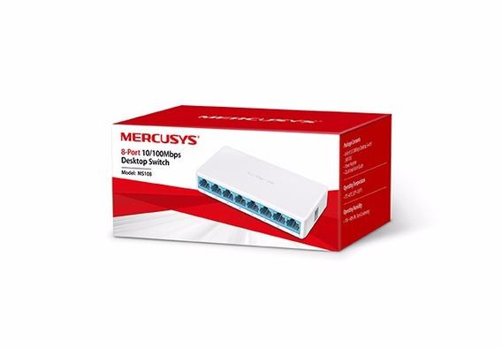 Switch De Mesa De 8 Portas 10/100mbps Mercusys Ms108