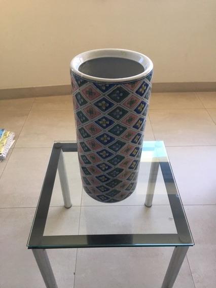 Paraguero Jarron Ceramica Esmaltada Exc Estado