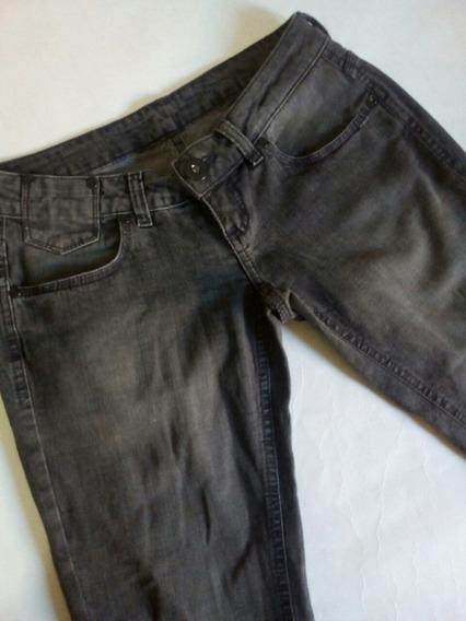 Calça Jeans Feminina Preta Com Brilho Zoomp 381