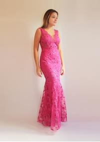 b29c552f7 Vestido Longo De Festa Para Casamento Tule Bordado Com Paetê · 4 cores