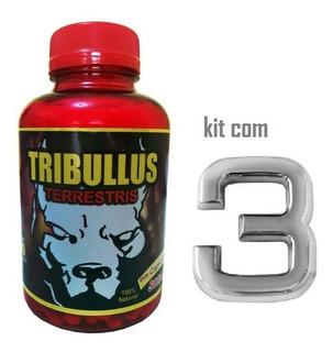 Tribulus Terrestris Com 100 Cápsulas Kit Com 3